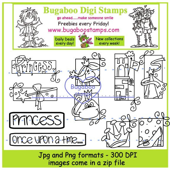 Digi Sets,Mini Set - princess blocks,Bugaboo Stamps,