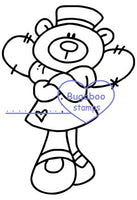 Digi Singles,Nurse Bear - Angel,Bugaboo Stamps,