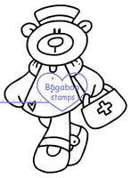 Digi Singles,Nurse Bear - First Aid,Bugaboo Stamps,