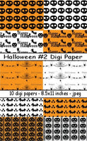 Digi Papers, Digi Papers - Halloween 2,Bugaboo Stamps,