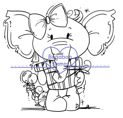 Digi stamps,Peaches present,Bugaboo Stamps,