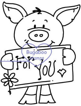 Digi Singles,Pig - for you,Bugaboo Stamps,