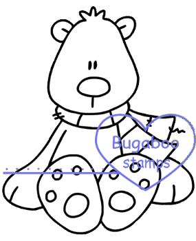 Digi stamps,polar bear,Bugaboo Stamps,