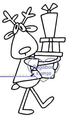 Digi stamps,Rudolph presents Digi Stamp,Bugaboo Stamps,