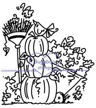 Digi stamps,Pumpkins and leaves,Bugaboo Stamps,