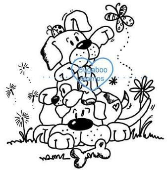 Digi stamps,puppy pile,Bugaboo Stamps,
