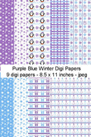 Digi Papers, Digi Papers - Purple Blue Winter,Bugaboo Stamps,