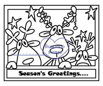 Cute Reindeer Digi Stamp! Quick for cards!  Images, Digi stamps, clip art, coloring pages and illustrations from Bugaboo Stamps