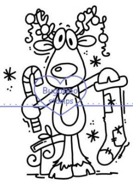 Reindeer Digi Stamp Image Images, Digi stamps, clip art, coloring pages and illustrations from Bugaboo Stamps