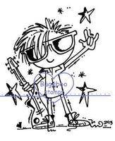 Digi stamps,Rock star Boy,Bugaboo Stamps,