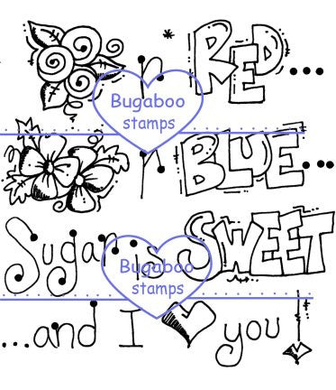 Word art/ Sentiments,Digi Singles,Roses Poem,Bugaboo Stamps,