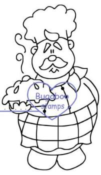 Digi stamps,Roly Poly Chef - pie,Bugaboo Stamps,
