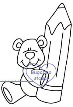 Digi Singles,School Bear pencil,Bugaboo Stamps,