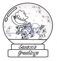Snow globe Sunbonnet Digi stamps, Images, clip art, coloring pages and illustrations from Bugaboo Stamps