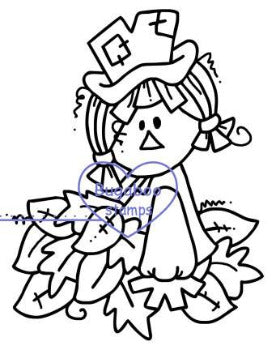 Digi stamps,Scarecrow - leaves,Bugaboo Stamps,