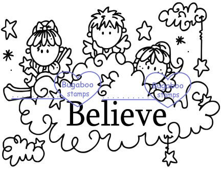 Digi Singles,Scene it - Angels Believe,Bugaboo Stamps,