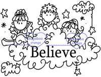 Digi Singles, Scene it - Angels Believe,Bugaboo Stamps,