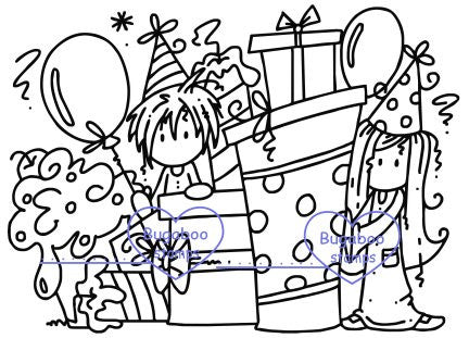 Digi stamps,Scene it Ava Deacon Birthday,Bugaboo Stamps,