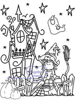 Digi Singles,Scene it - Halloween Witch,Bugaboo Stamps,