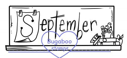 Word art/ Sentiments,Digi Singles,September word,Bugaboo Stamps,