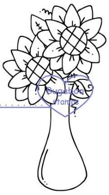 ,Sunflower Vase,Bugaboo Stamps,