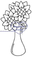 , Sunflower Vase,Bugaboo Stamps,
