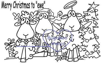 Digi Singles,Scene it Christmas Sheep,Bugaboo Stamps,