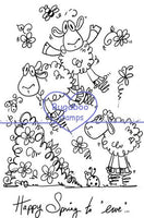 Digi Singles,Scene it - happy spring to ewe,Bugaboo Stamps,