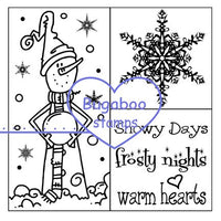 Digi Singles,Word art/ Sentiments, 4 square - Snowman,Bugaboo Stamps,