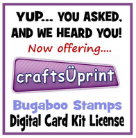 Crafts u Print digital card kit licence from Bugaboo Stamps