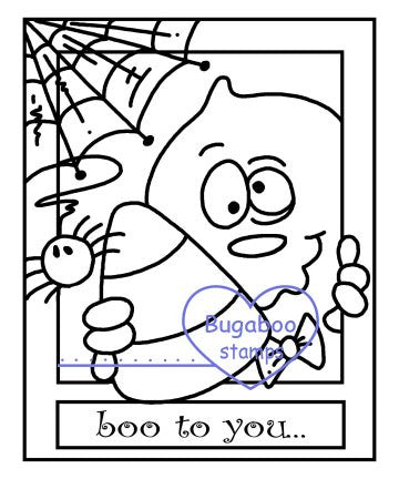 Make it snappy - Boo to you Digi stamps, Images, clip art, coloring pages and illustrations from Bugaboo Stamps