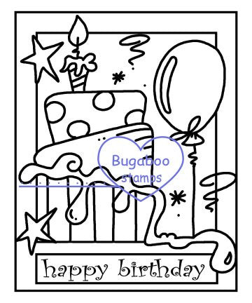 Digi Singles,Make it Snappy - happy birthday,Bugaboo Stamps,
