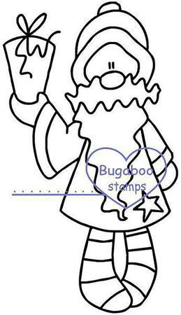 digi stamps,Stocking Santa Present,Bugaboo Stamps,