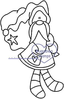 digi stamps,Stocking Santa sack,Bugaboo Stamps,