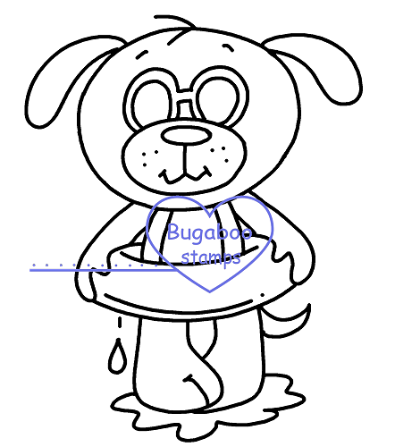 Summer dog dingy  Digi stamps, Images, clip art, coloring pages and illustrations from Bugaboo Stamps