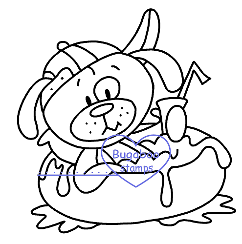 Summer dog pool  Digi stamps, Images, clip art, coloring pages and illustrations from Bugaboo Stamps