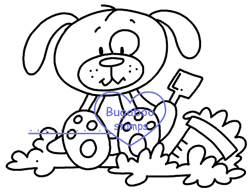 Summer dog sand Digi stamps, Images, clip art, coloring pages and illustrations from Bugaboo Stamps