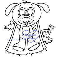 Summer dog suntan Digi stamps, Images, clip art, coloring pages and illustrations from Bugaboo Stamps