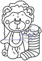 Digi stamps,Christmas teddy stocking Digi Stamp,Bugaboo Stamps,