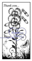 digi stamp,Floral beautiful blocks thank you image,Bugaboo Stamps