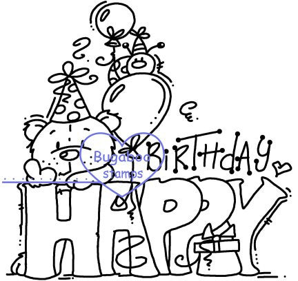 Digi Singles,Word art/ Sentiments,Theodore - Birthday Sign,Bugaboo Stamps,