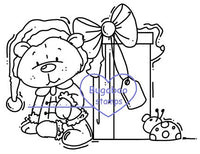 DIGI STAMPS,Theodore Christmas Present,Bugaboo Stamps,
