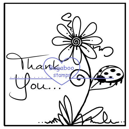 Digi Singles,Thank you  flower,Bugaboo Stamps,