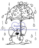 Umbrella Mouse Digi stamps, Images, clip art, coloring pages and illustrations from Bugaboo Stamps