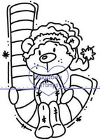 Digi stamps,Christmas Bear - bear candy cane,Bugaboo Stamps,