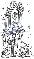 Digi stamps,winter bird house,Bugaboo Stamps