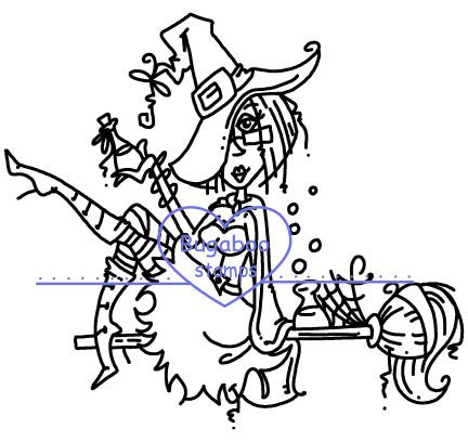 Digi stamps,JJ witch broomstick,Bugaboo Stamps,