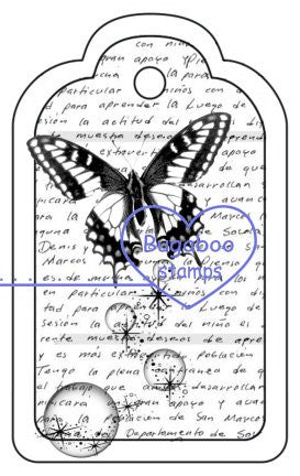 Digi Singles,Tags - word butterfly bubbles,Bugaboo Stamps,