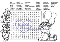 Digi Singles, Word Search - Brat Birthday Boy,Bugaboo Stamps,