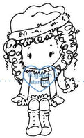 Christmas Girl Sitter image Digi stamps, clip art, illustrations from Bugaboo Stamps